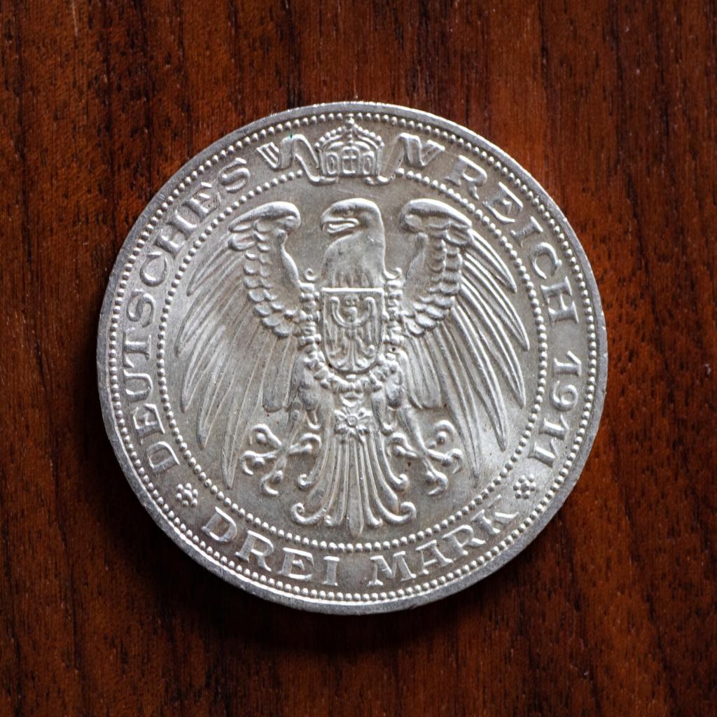 3 marcos Prusia 1911 - Universidad de Breslau Img_1014
