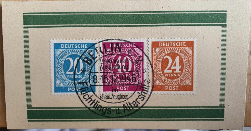 Bitte Hilfe um Identifizierung/Zuordnung: 3 Briefmarken Berlin 15.12.1946 Be0110