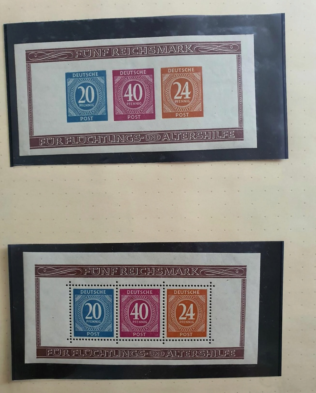 Bitte Hilfe um Identifizierung/Zuordnung: 3 Briefmarken Berlin 15.12.1946 Be0210