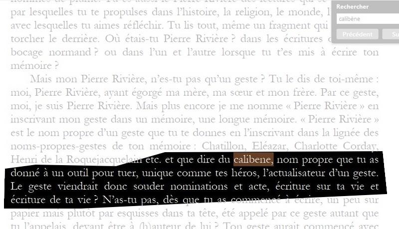 """""""Moi, Pierre Rivière, ayant égorgé ma mère , ma soeur et mon frère ..."""" Calibe10"""