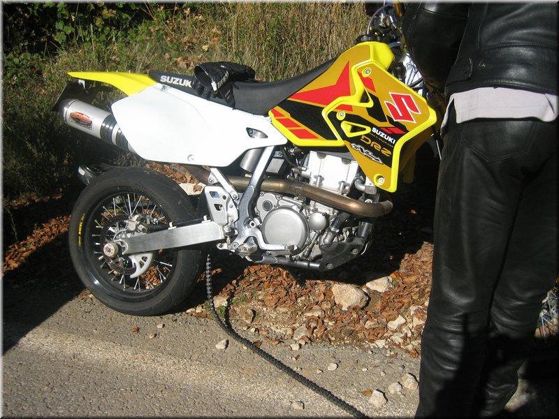 un KAWA en TERRASSE - Comment remorquer une moto de course??? Ventou10