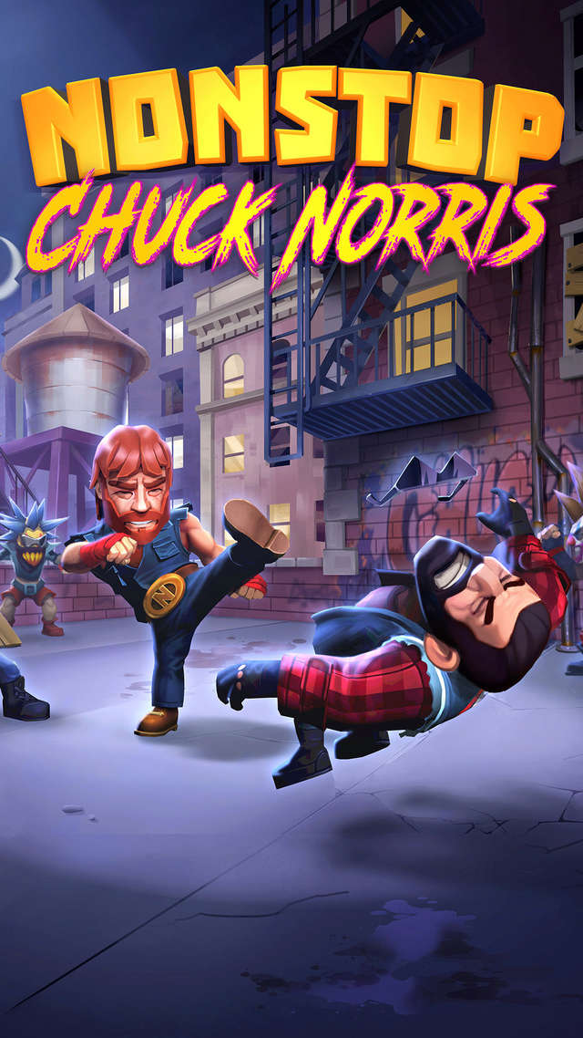 CHUCK NORRIS annonce la sortie de son jeu mobile NONSTOP CHUCK NORRIS Nscn_111
