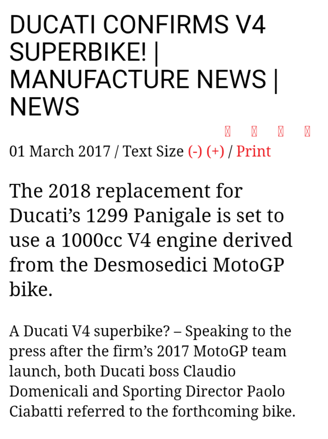 [Actu]Ducati va sortir un V4 grande série dérivé du MotoGP ! Screen19