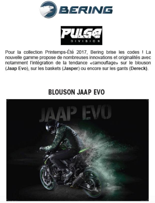 Nouveautés chez BERING... Printemps-Été 2017 Screen36