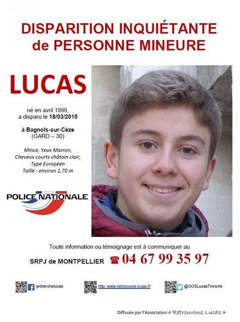 Gard : disparition inquiétante d'un adolescent de 16 ans à Bagnols-sur-Cèze - Page 3 Lucas610
