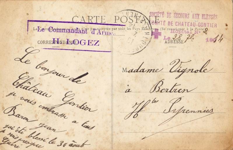 1914 hopital chateau gontier Sociat11