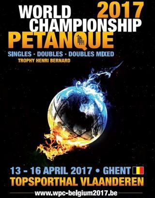 Coupe du monde Pétanque (jeu de boules) Gand Belgique 2017 22c02010