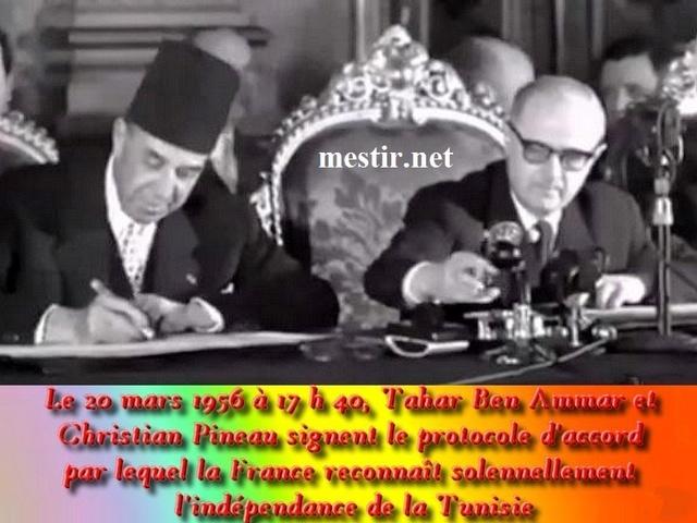 20 mars 1956 - La Tunisie retrouve son indépendance  53047812