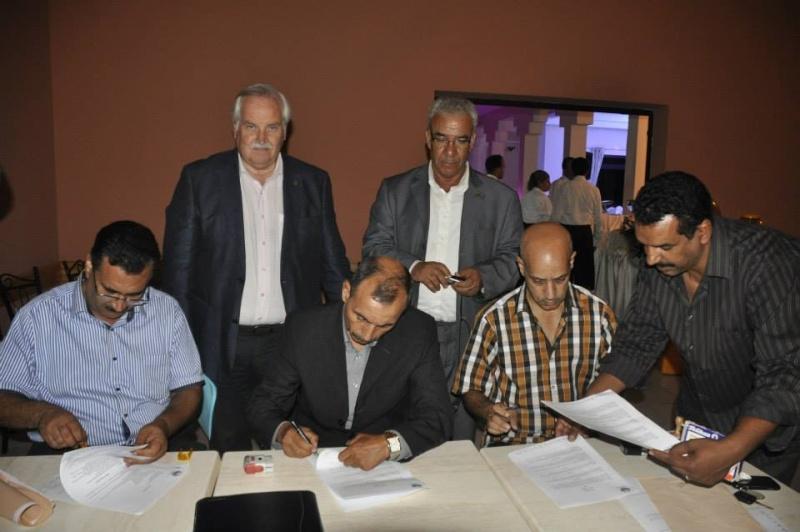 Reportage photos de la constitution de COM/MAROC 210