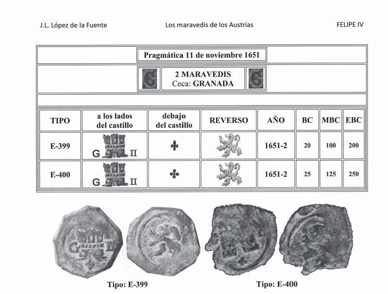2 Maravedís de Felipe IV, ceca de Toledo. 45610
