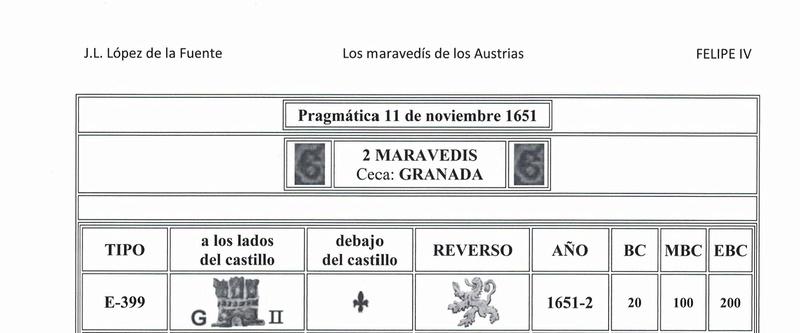 Dos maravedís  Felipe IV,  ceca Granada 9910