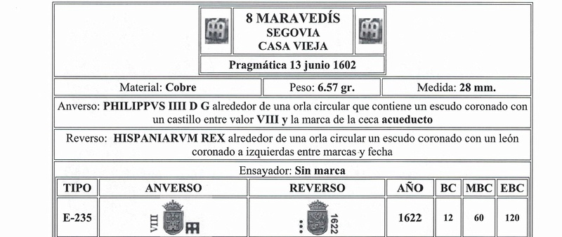 8 Maravedís Felipe IV ceca de Segovia en 1622,  Cci07010
