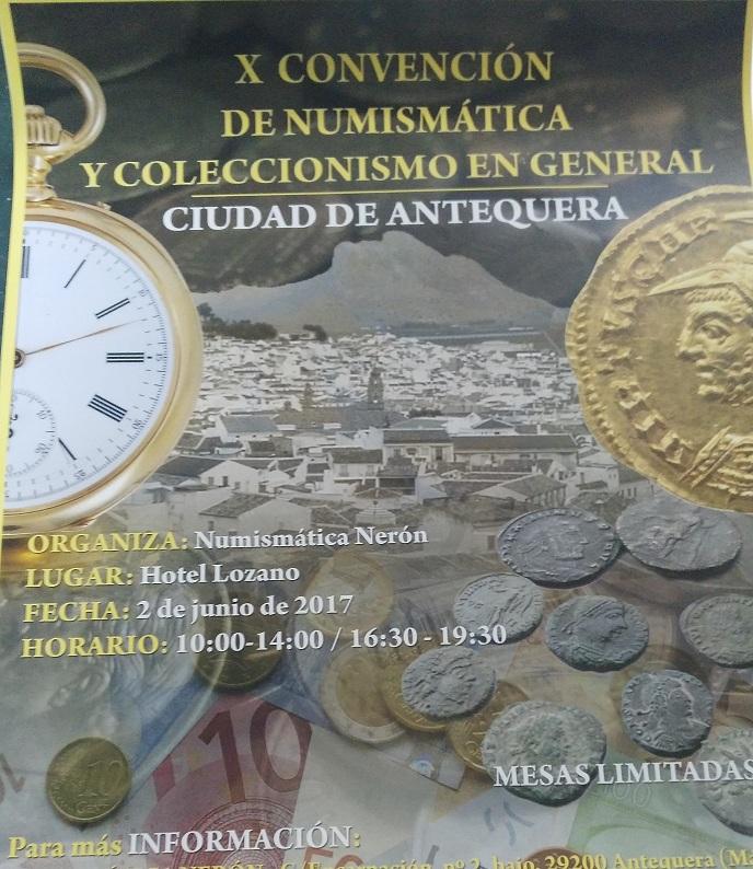 CONVENCIÓN NUMISMÁTICA DE ANTEQUERA - 2 DE JUNIO Conven11