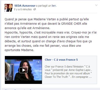 Seda Aznavour en colère contre Sylvie Vartan Captur15