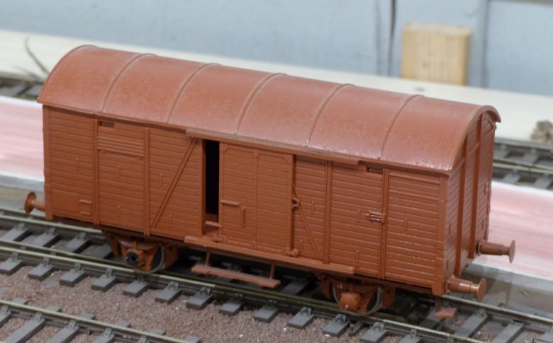 Redécoraton époque IIIa de wagons allemand en 0 G20-7810