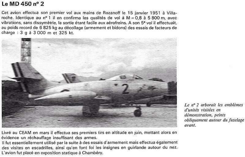 Epave de M.D. 450 Ouragan Md-45010