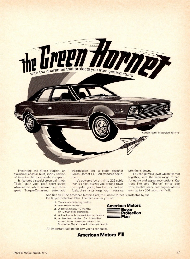 1972 AMC Hornet Green Hornet 1972-a10