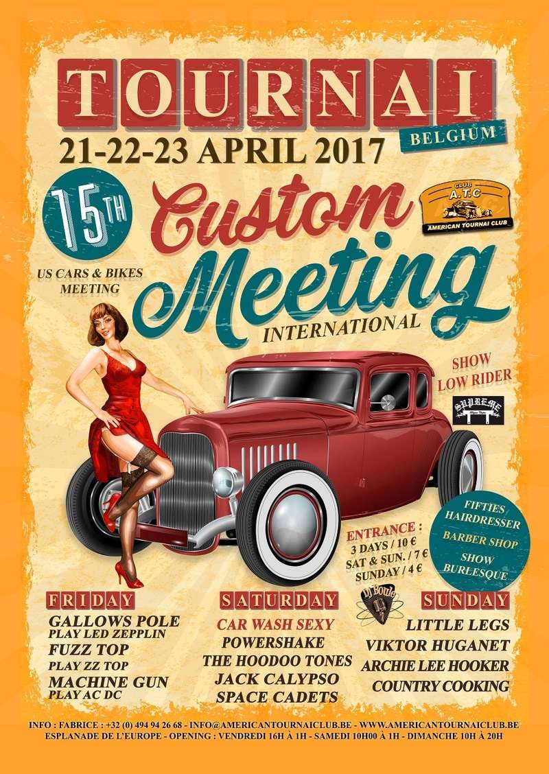 15 éme custom meeting A.T.C. Tournai Affich11
