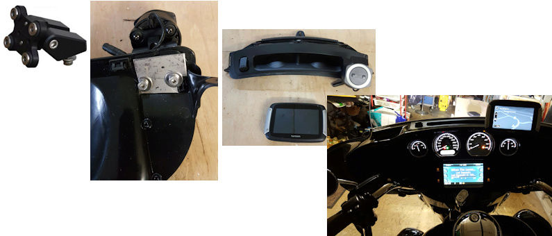 Montage support pour Tomtom Rider Suppor10