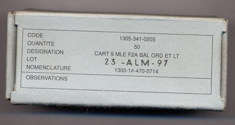 Les 9mm règlementaires armée française 9x19_o10