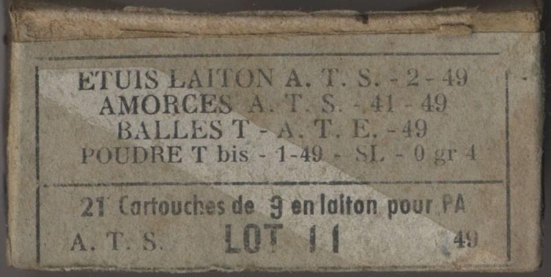 Les 9mm règlementaires armée française 9x19_t10