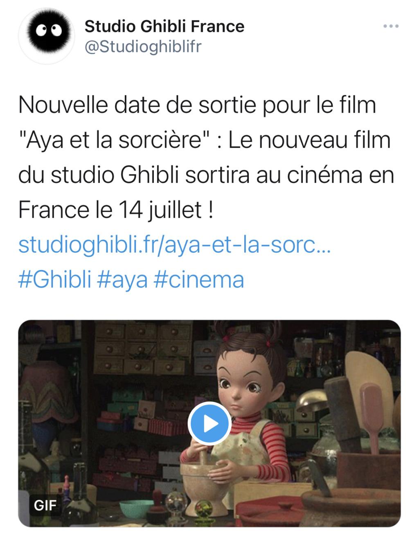 Aya et la Sorcière, le dernier Ghibli annoncé, se dévoile en images !  98a2ff10