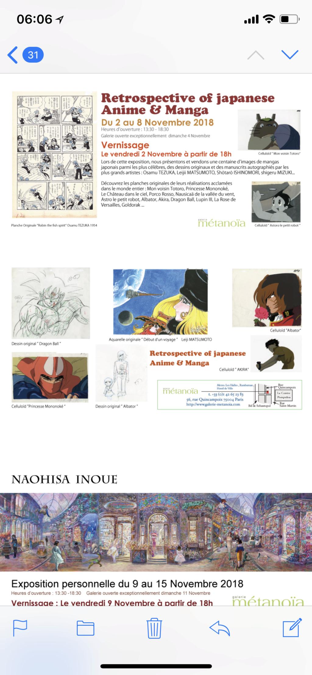Expo vente Anime et manga 2-8 nov. Naohisa Inoue 9-15 nov galerie métanoia Img_2313