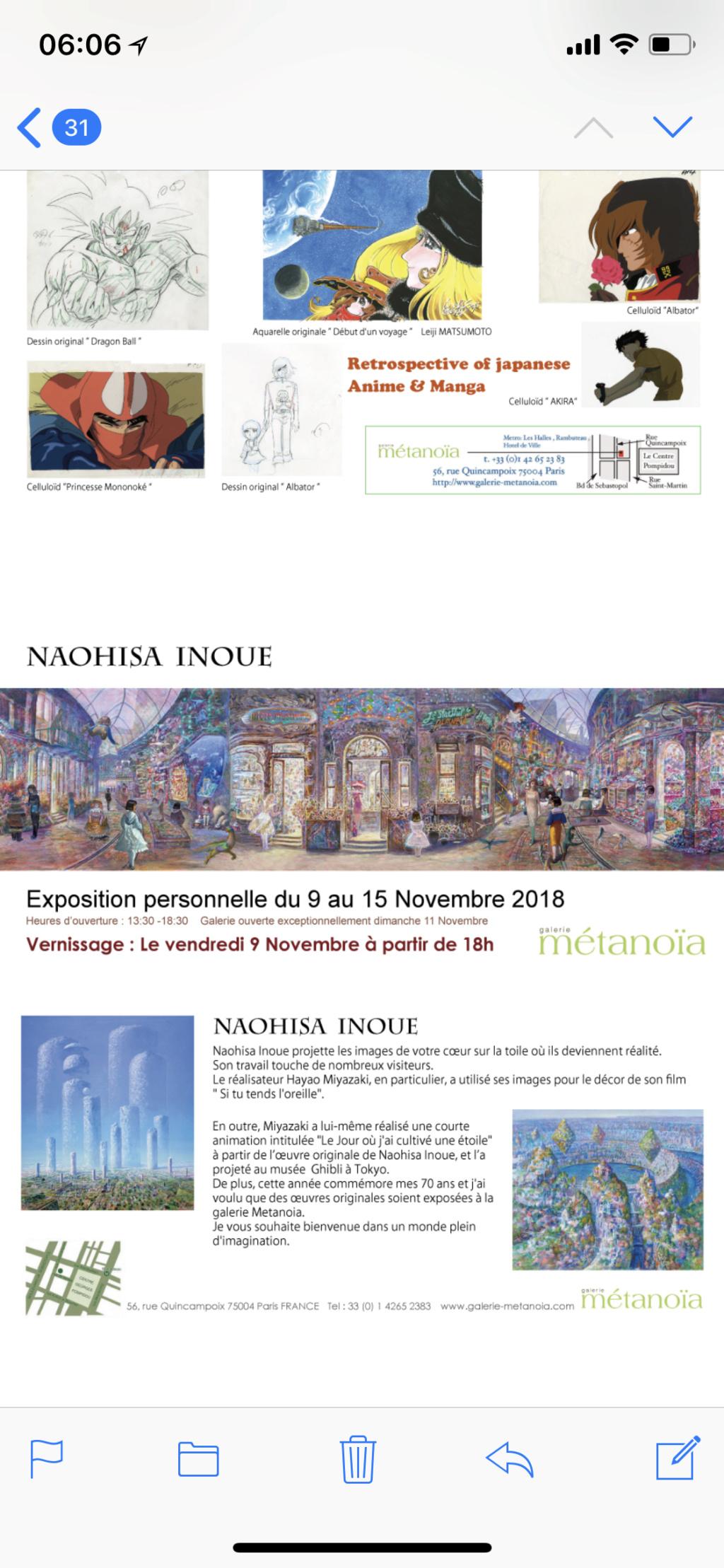 Expo vente Anime et manga 2-8 nov. Naohisa Inoue 9-15 nov galerie métanoia Img_2314