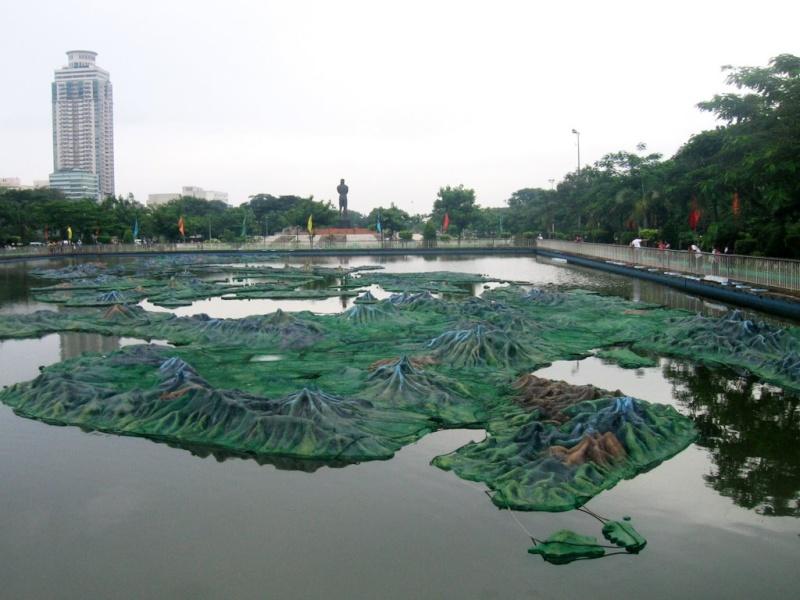 Carte géante des Philippines à Manille - Philippines Panora10