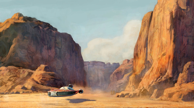 Artwork Star Wars A New Hope - ACME - Commute Home Swanh710