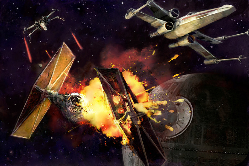 Artwork Star Wars A New Hope - ACME - Dogfight Swanh811