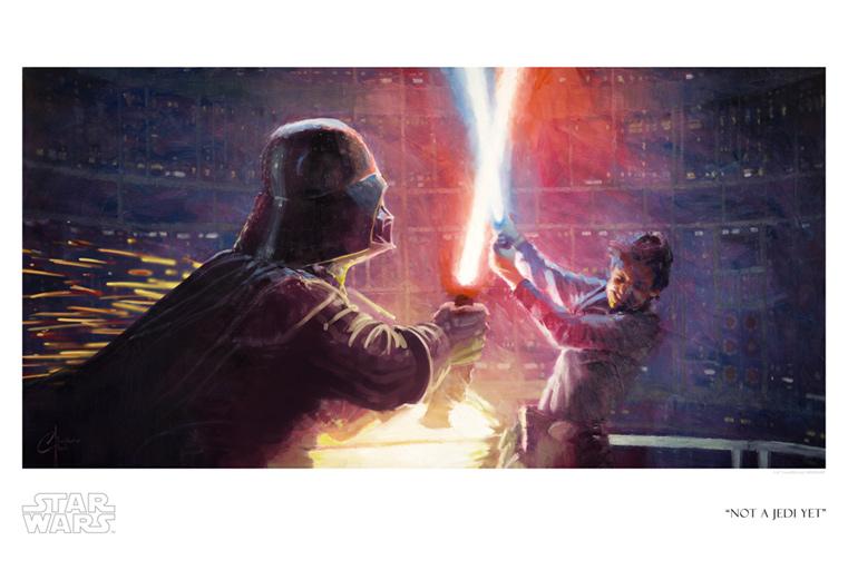 Artwork Star Wars - ACME - Not a Jedi yet Swesb610