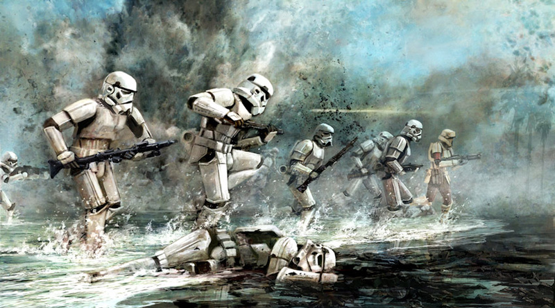 Artwork Star Wars Rogue One - ACME - Storming Troopers Swr80810