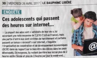La vie numérique des ados 20170412