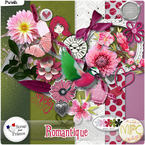 "mini kit ""Romantic"" de MPC design Pvroma10"