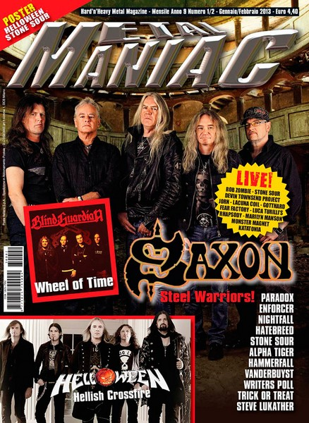 Saxon et la presse Metalm10