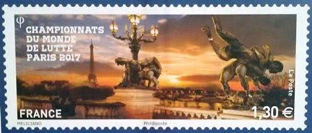 Timbre (France) - Championnats du monde de lutte 2017 à Paris (Lutte) 18446910