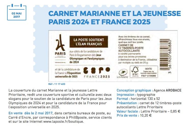 TIMBRE PARIS 2024 Carnet10