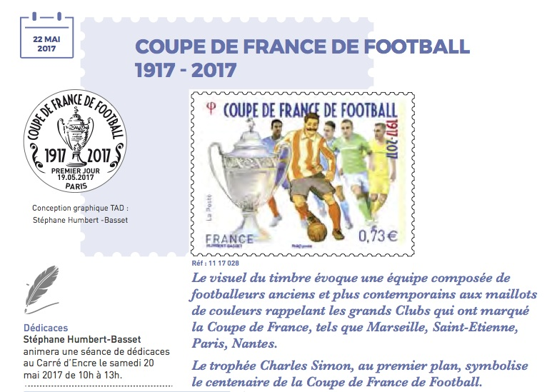 Timbre (France) - Centenaire de la Coupe de France de Football 1917 - 2017 Coupe_10