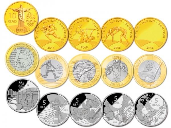 Les monnaies commémoratives des Jeux Olympiques et Paralympiques Rio 2016 Moedas10