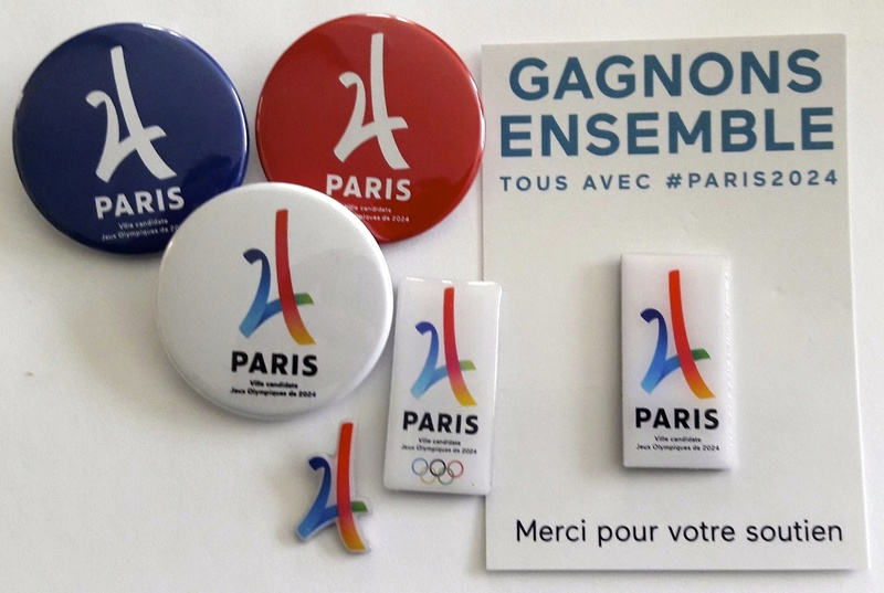 Pin's candidature PARIS 2024 Philip10