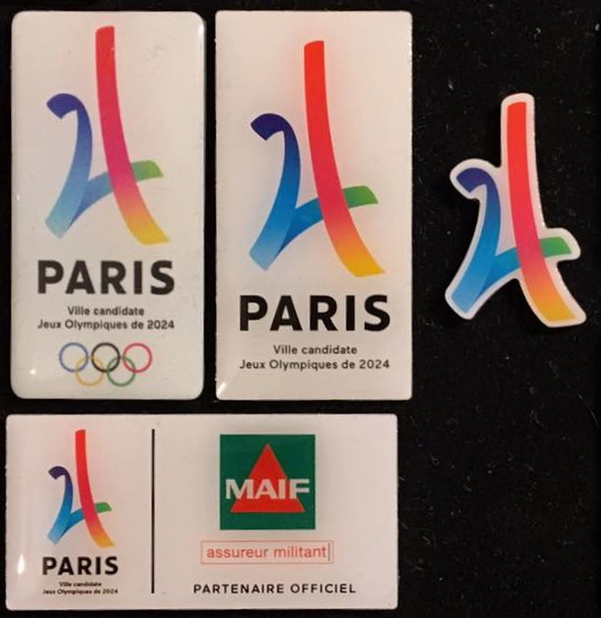 Pin's candidature PARIS 2024 Teva_b10