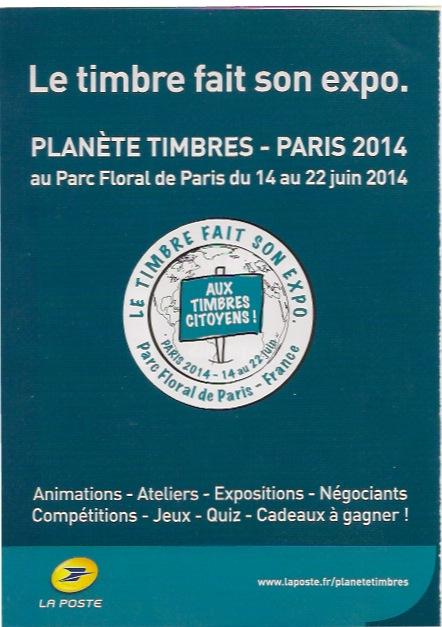 Salon - Planète Timbres 2014 Timbre10