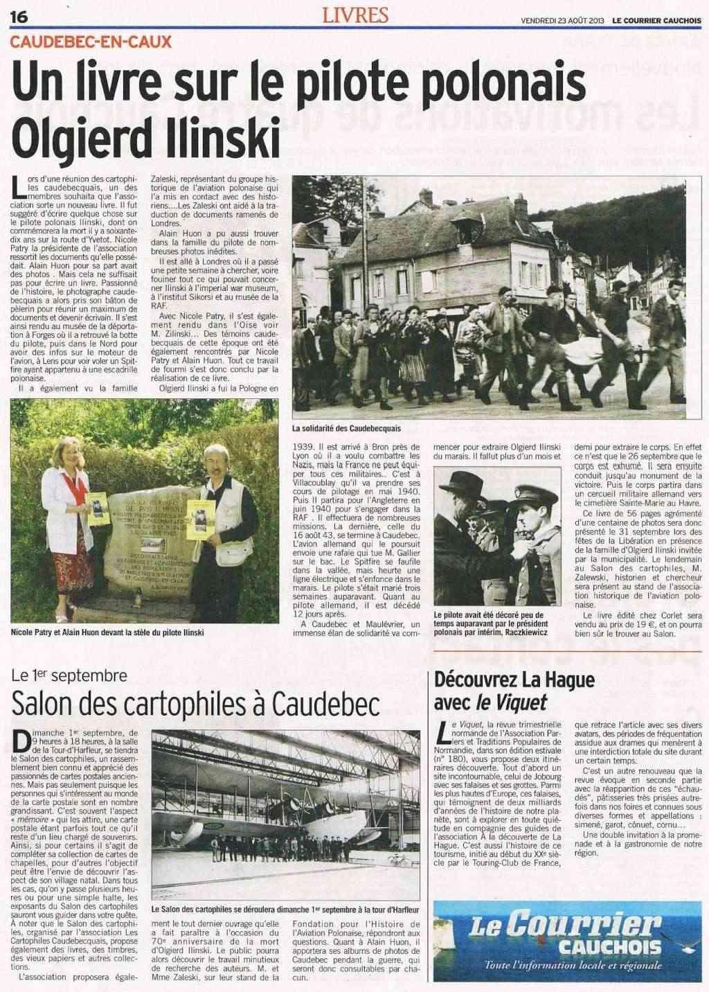 Caudebec-en-Caux - Le pilote Polonais Ilinski 2013-032