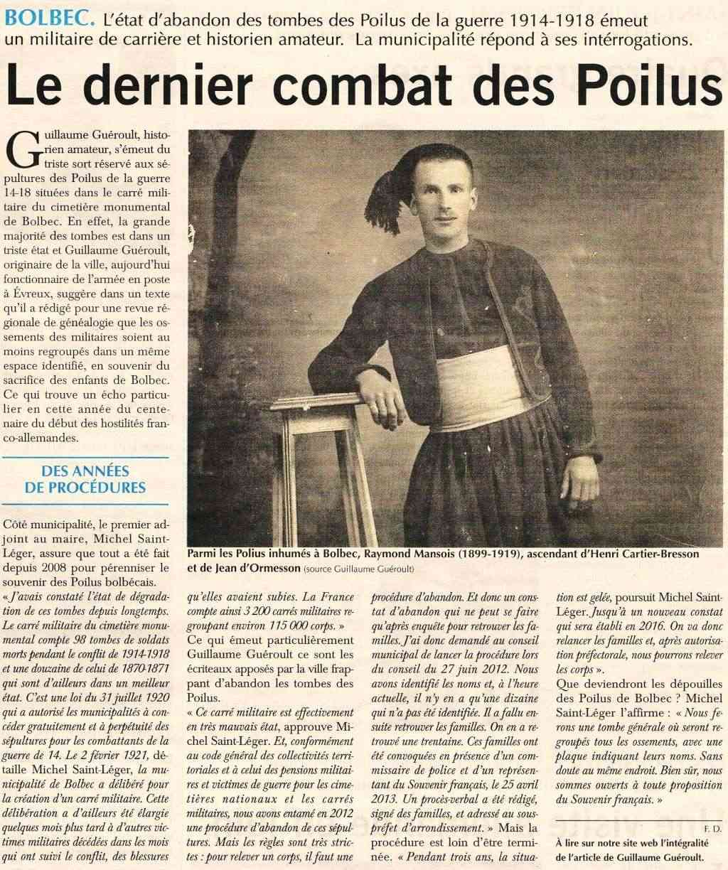 Saint - Bolbec - Le dernier combat des Poilus 2014-031