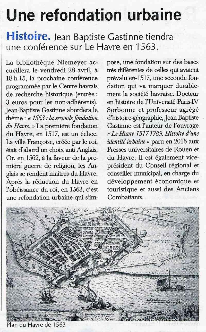 Havre - Le Havre en 1563 (conférence CHRH) 2017-043