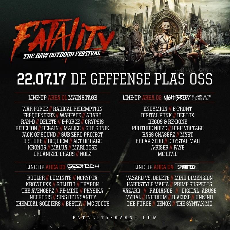 Fatality - The RAW Outdoor Festival - 22 Juillet 2016 - Geffense Plas - Oss - NL 17097610
