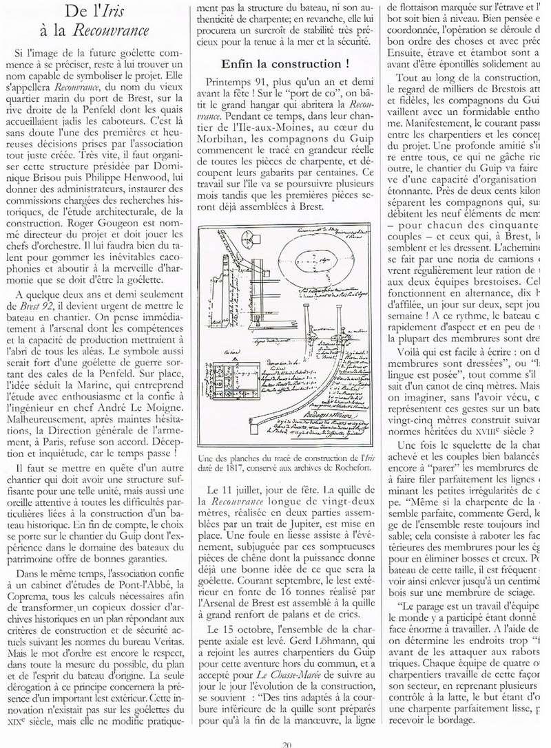 """"""" La RECOUVRANCE """" au 1/50ème - Kit Soclaine et plans AAMM 00115"""