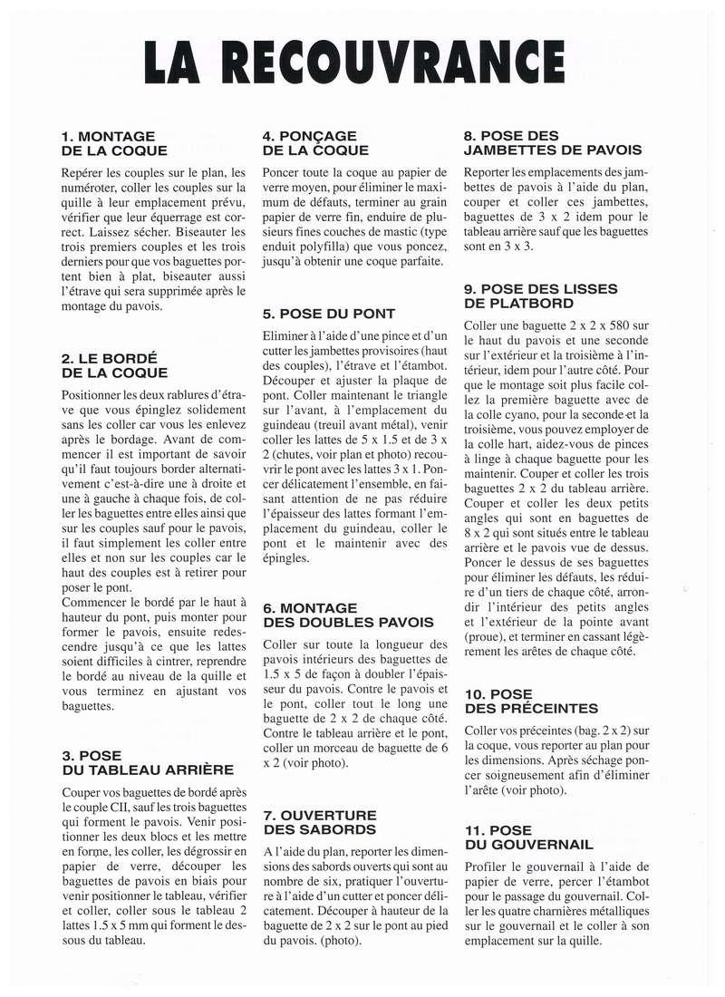 """"""" La RECOUVRANCE """" au 1/50ème - Kit Soclaine et plans AAMM Notice11"""