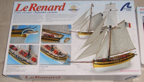 """Côtre Corsaire """" Le RENARD """" au 1/50ème - Kit Soclaine S7301710"""